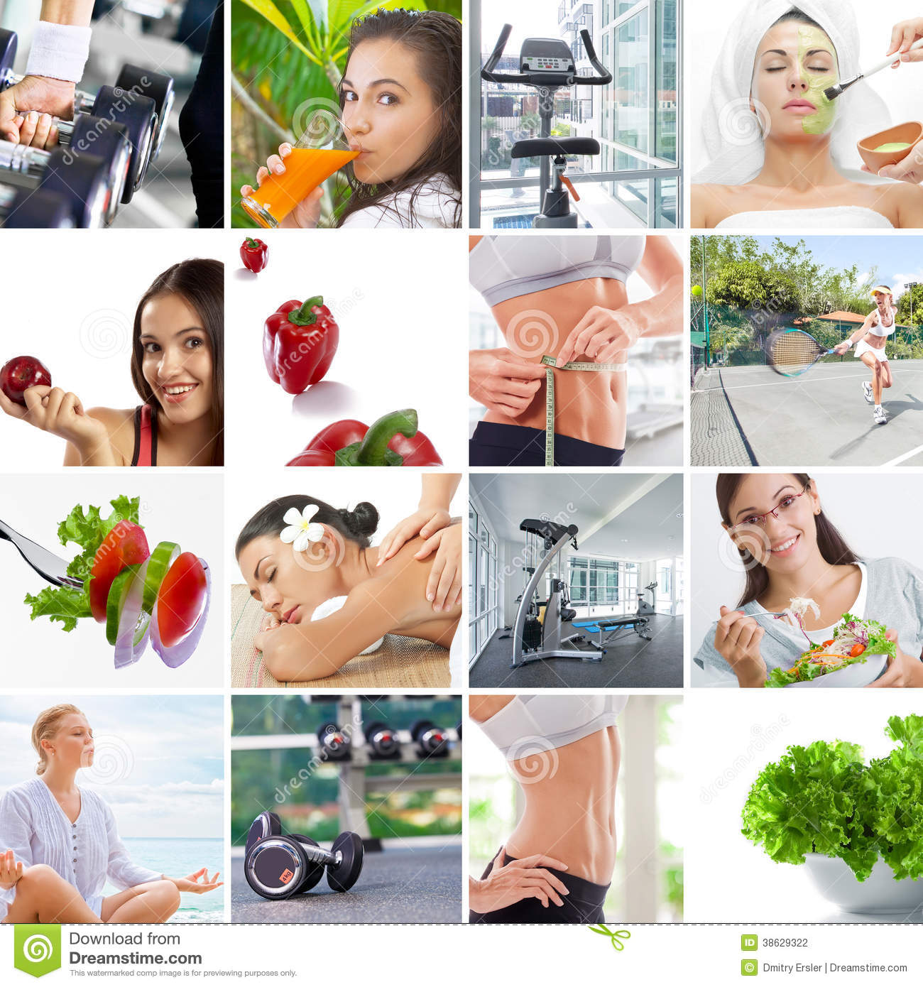 Lifestyle Collage Stock Photo Image Of Muscles Food