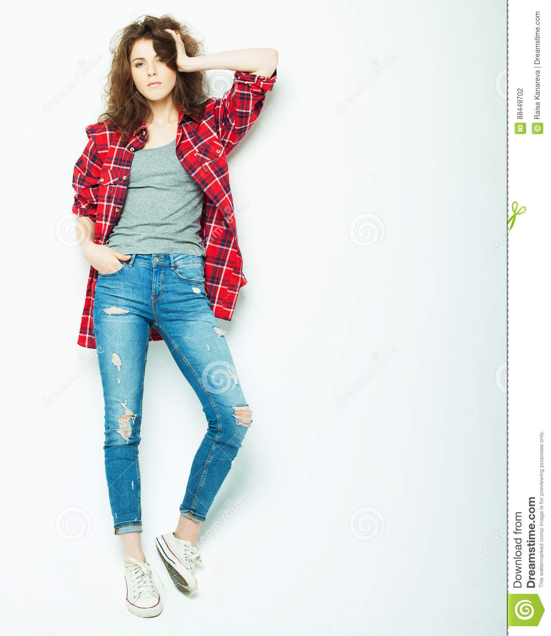 body posing lifestyle woman studio young concept preview isolated modern