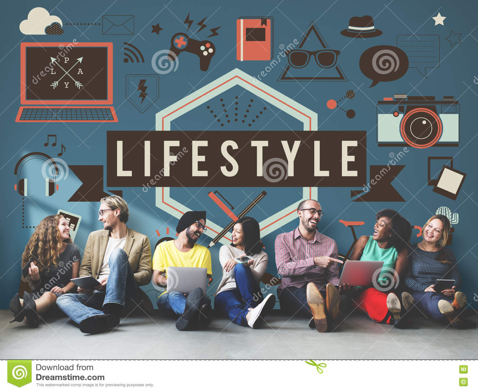 Lifestyle Hobbies Media Technology Concept Stock ...  Lifestyle Hobbi...