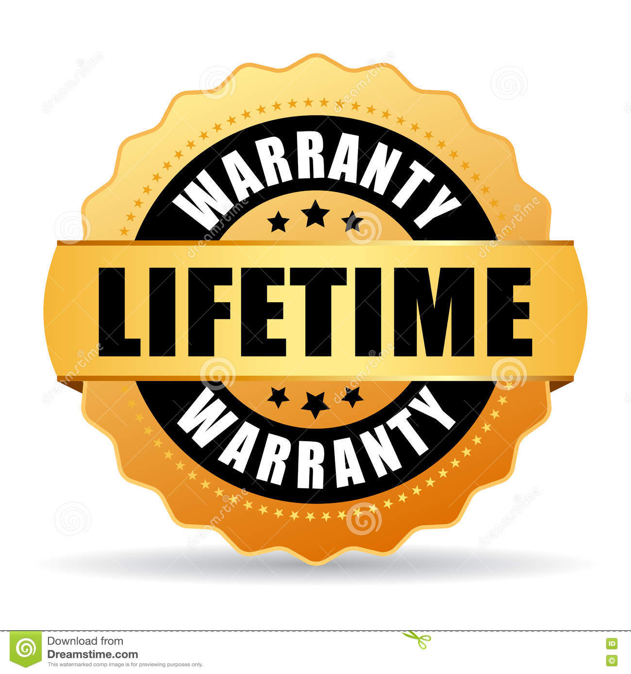 lifetime warranty gold vector icon stock vector image victor stampley vector stamp