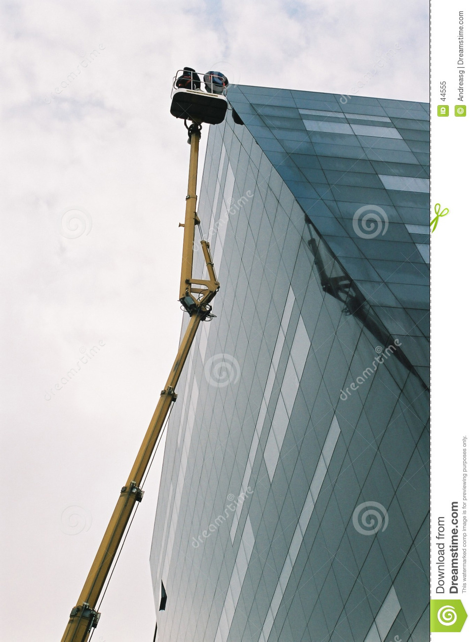 Lift on building exterior