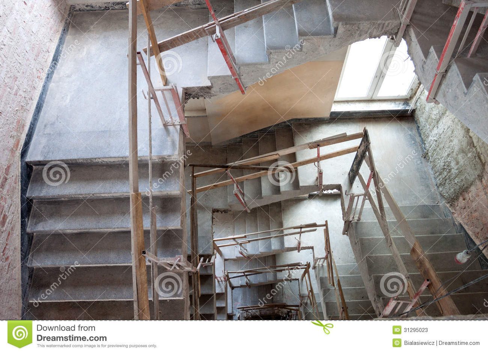 Lift Shaft Construction Stock Image Image Of Banister