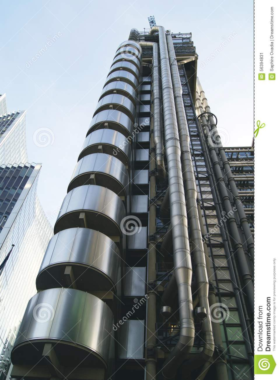 Lift Shaft Lift Exterior Fa Ade Stainless Steel Lift Stock Image Image 56394831