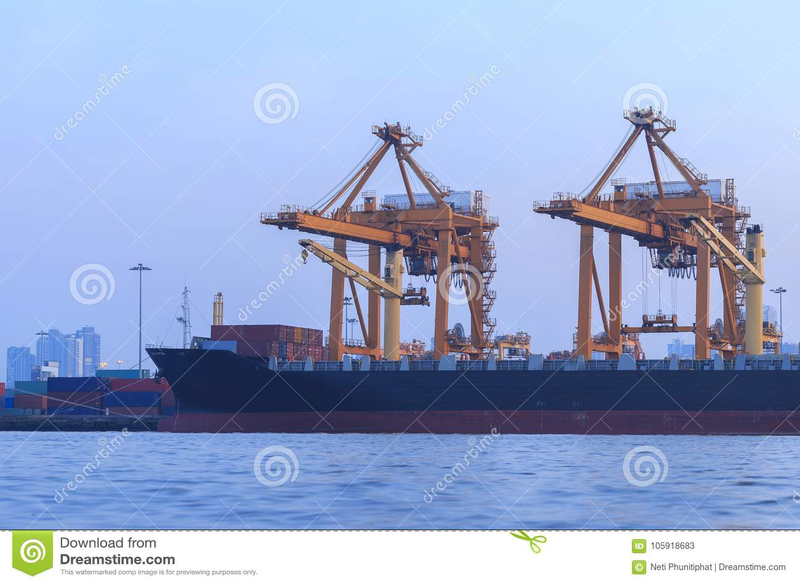Lifter Crane In The Sea Port, Bangkok,Thailand Stock Image