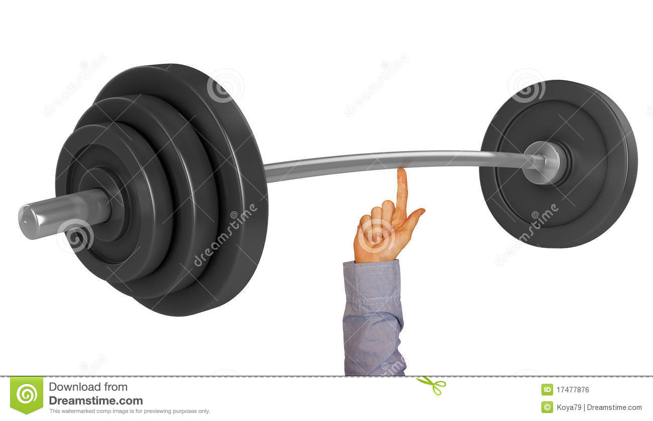 Lifting Weight With One Finger Royalty Free Stock Image ...