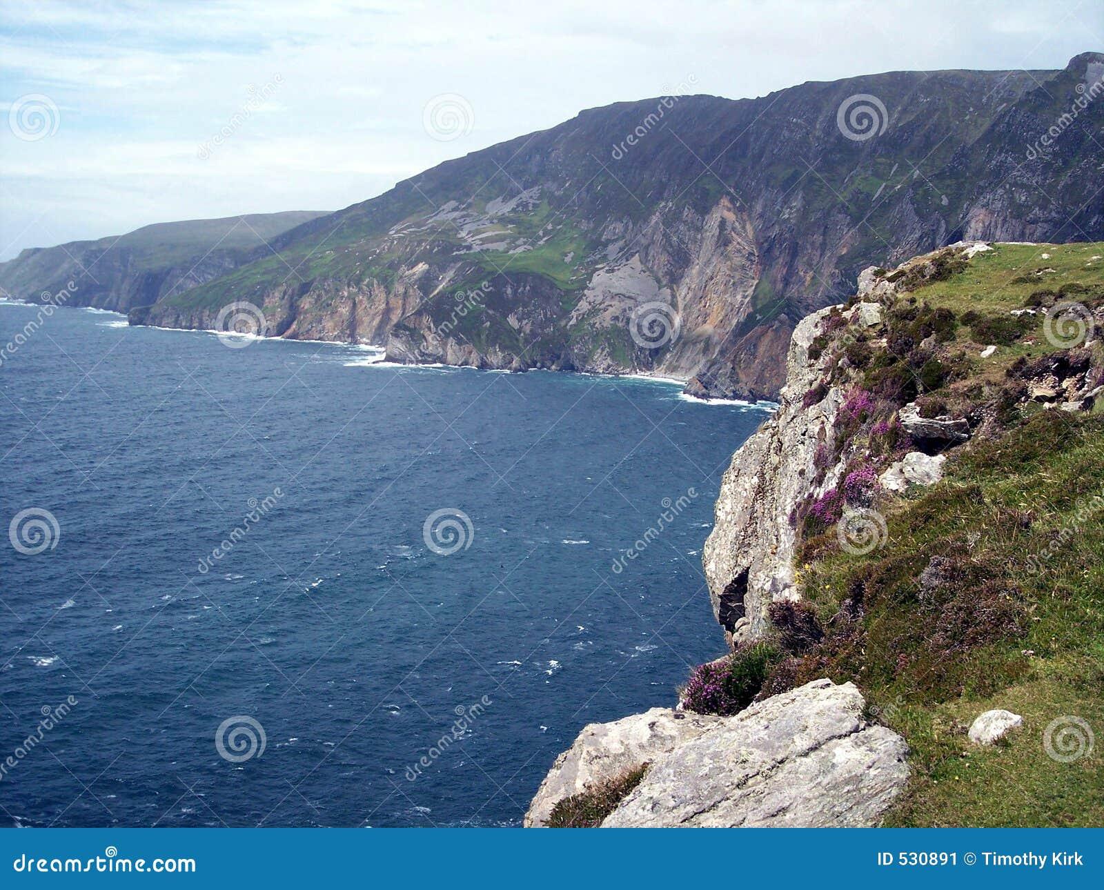 Liga de Slieve, penhascos de Bunglass, Ireland