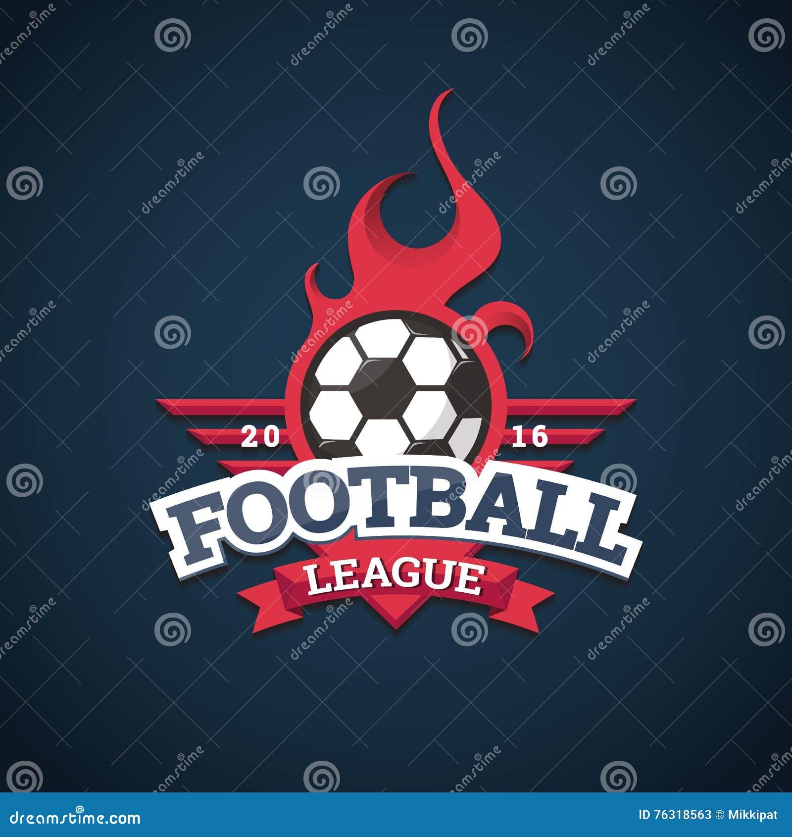 Liga footballowa logo, etykietki, emblematy i projektów elementy dla sport drużyny 2016,