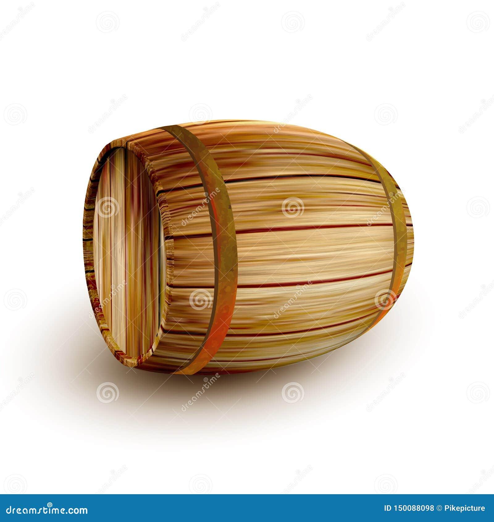 Liggande trumma för tappningbruntfat för vätskevektor