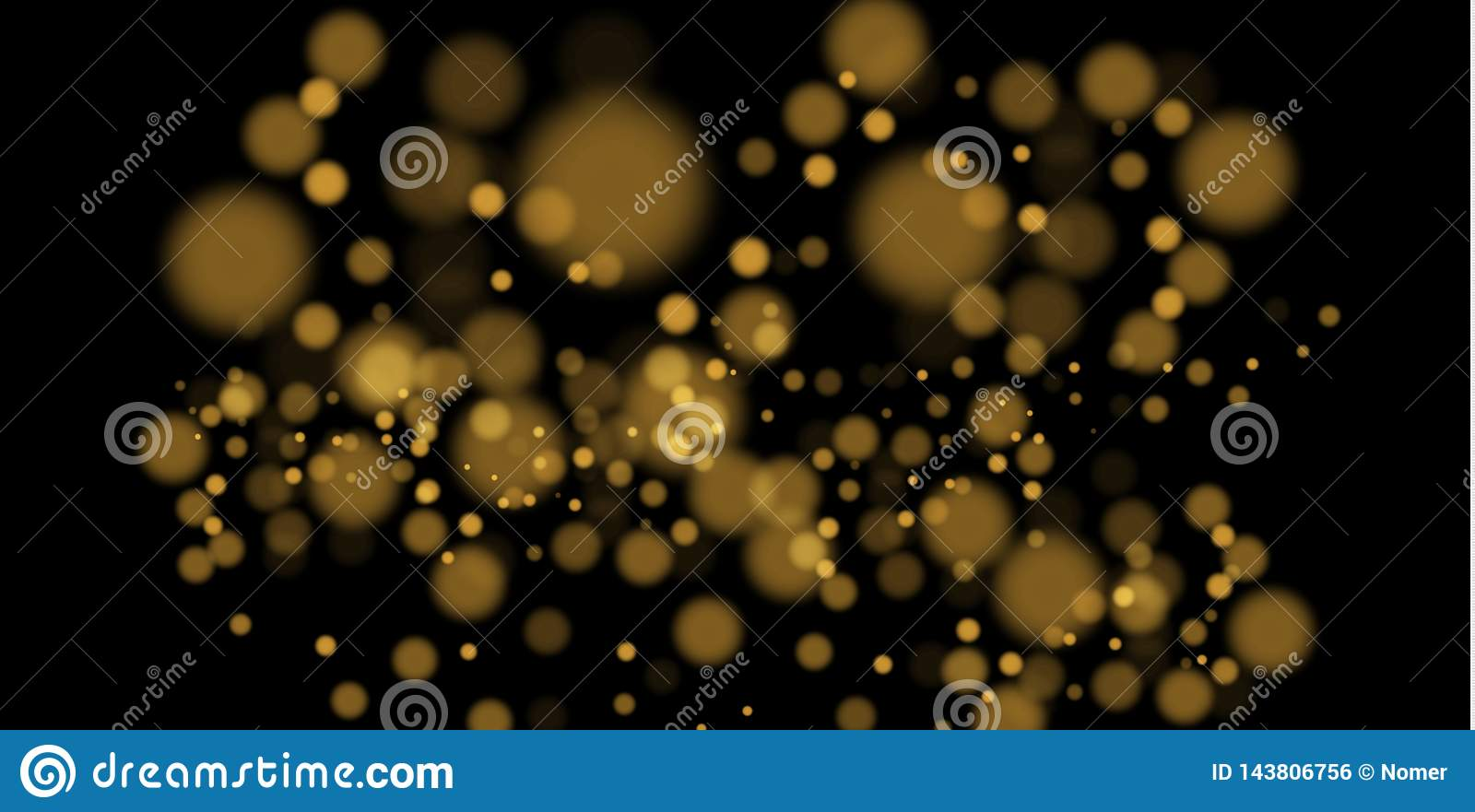 Light abstract glowing bokeh lights. Bokeh lights effect isolated on transparent background. Festive purple and golden