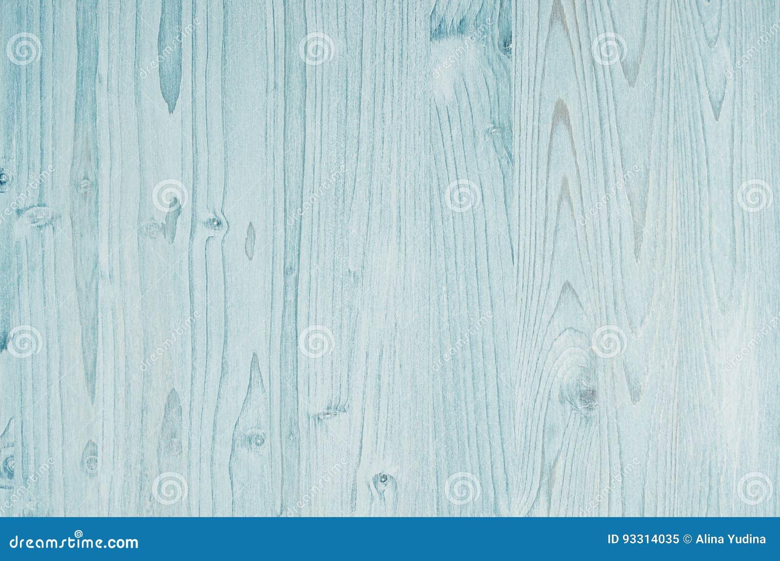 Light Aqua Blue Vintage Wood Texture Top View Wooden Board