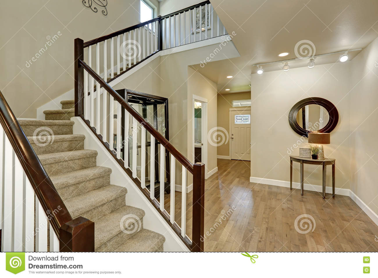 Light Beige Hallway Interior Stock Photo Image 79328924