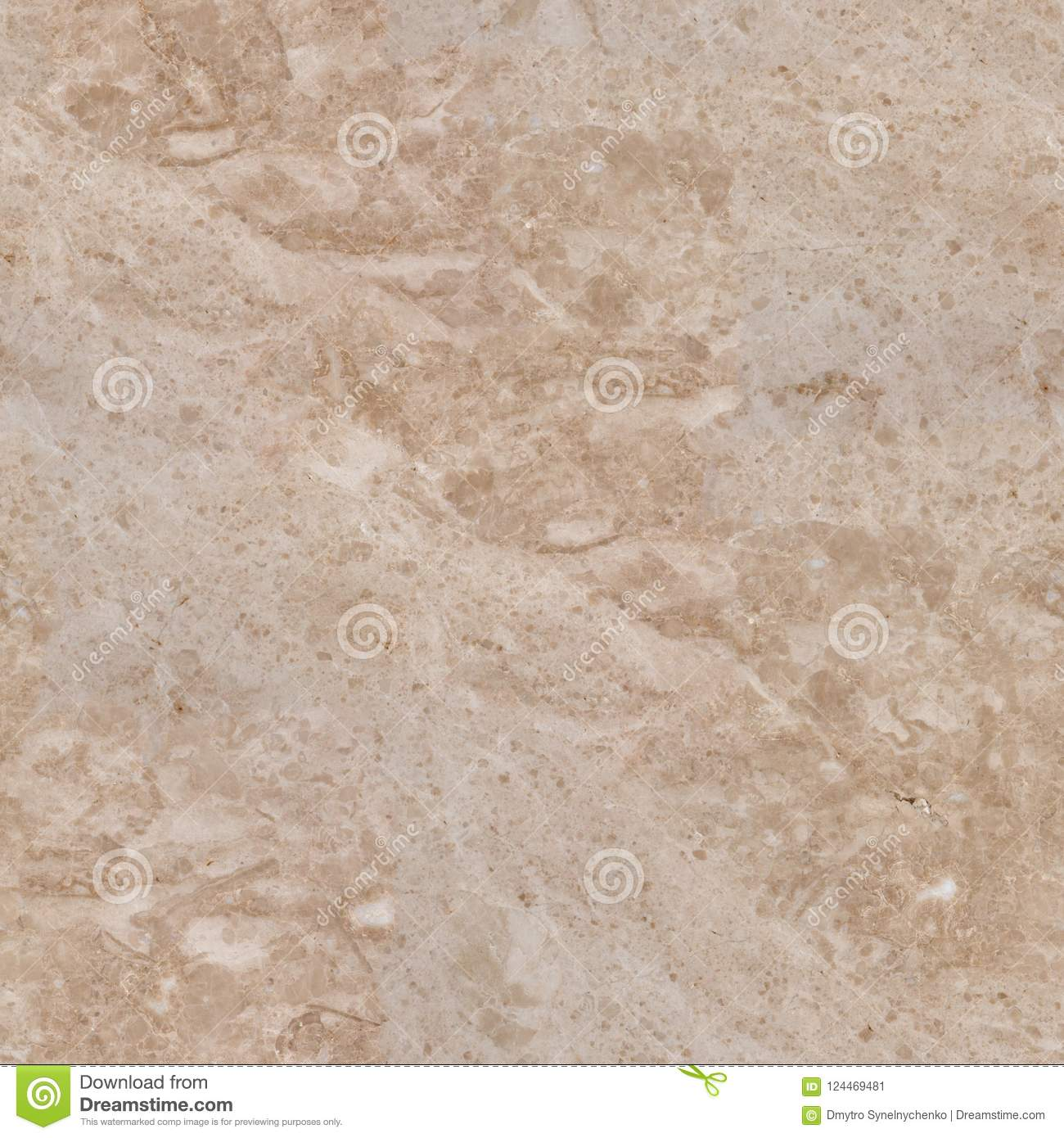 Download Light Beige Marble Texture With Gentle Tracery Seamless Square Stock Image