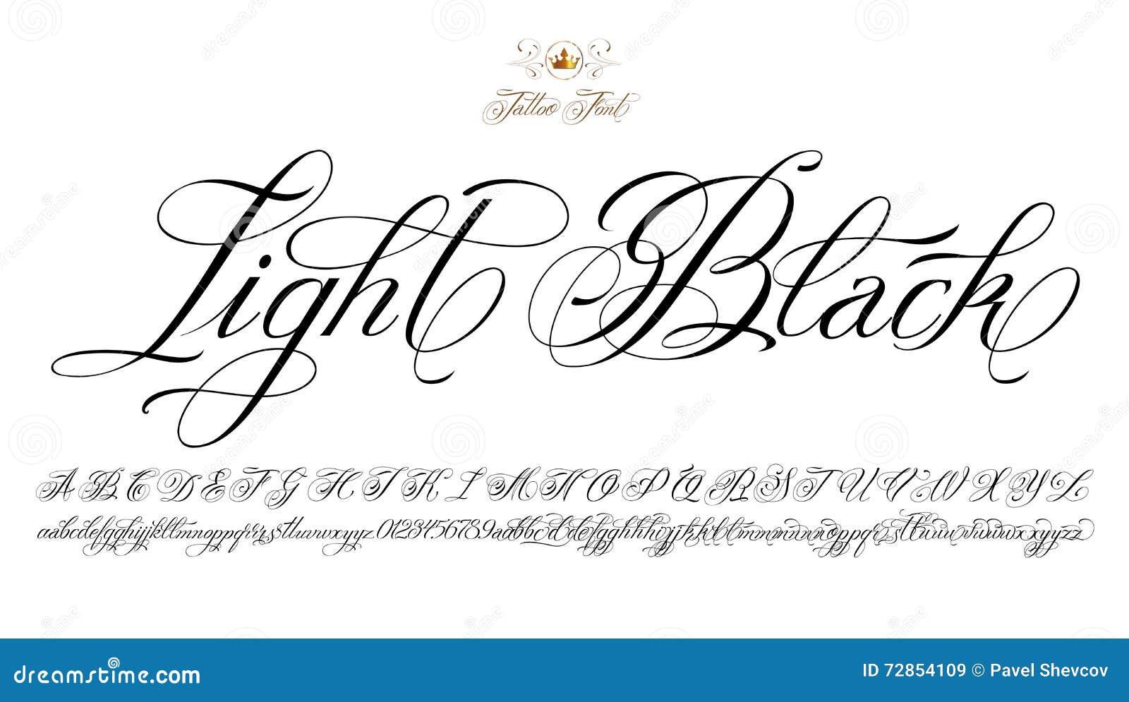 Шрифт для тату надписей на английском фото