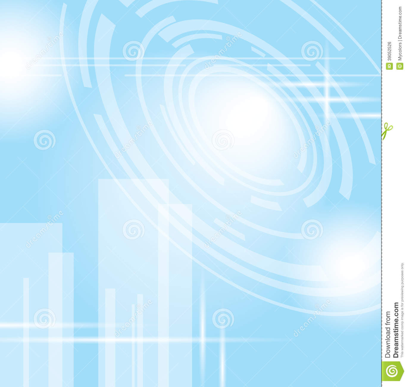 Light Blue Abstract Futuristic Background Vector Stock