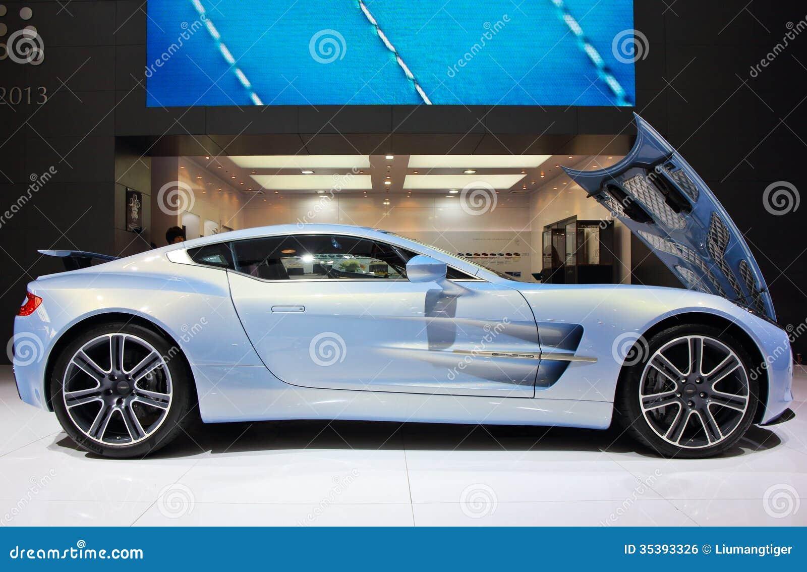Light blue Aston Marti...