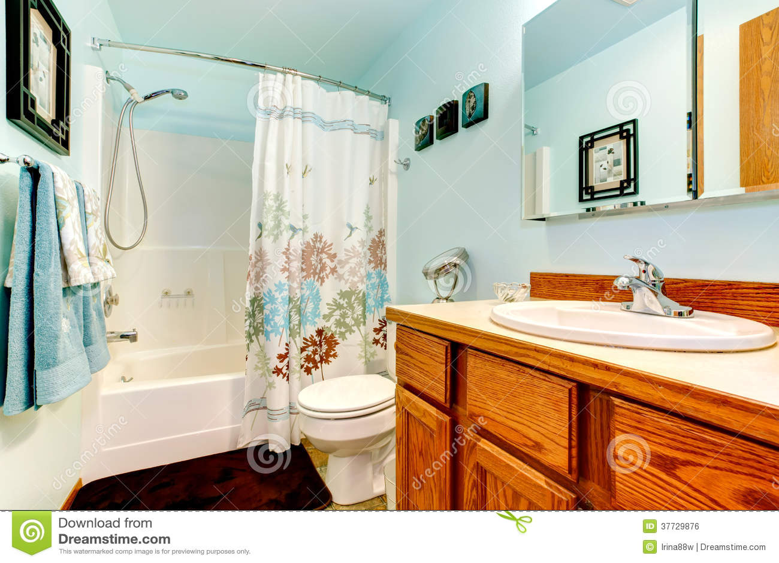 Light Blue Bathroom Stock Photo Image Of Light Idea