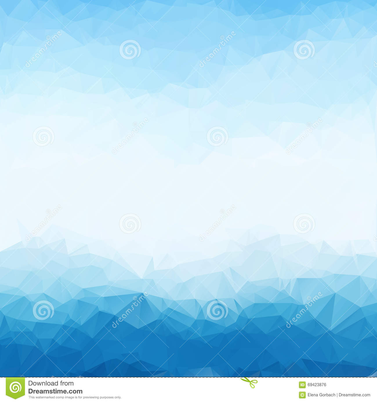 Light blue bright triangle polygon background frame. Abstract Geometrical Backdrop. Geometric design for business