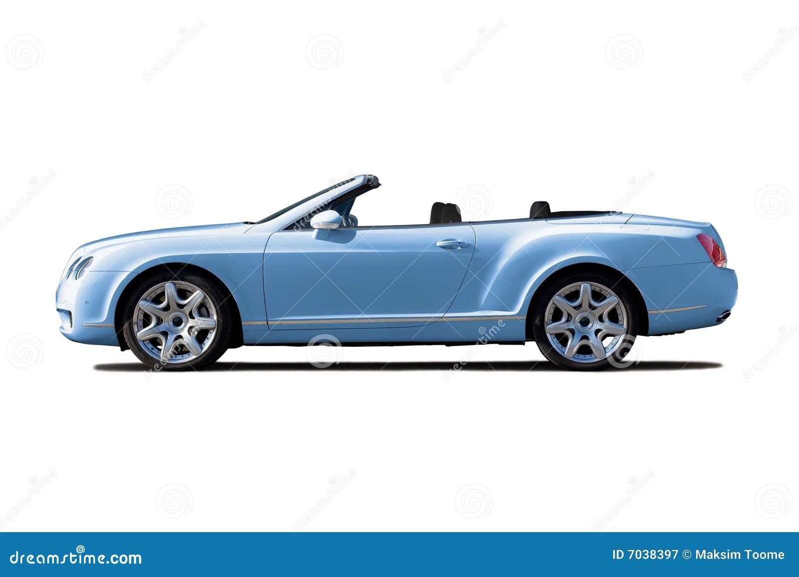 Light blue cabriolet