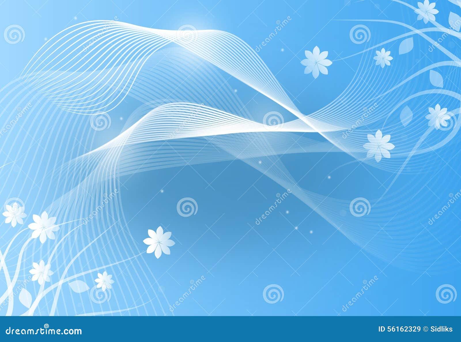 Light Blue Floral Background Stock Illustration Illustration Of