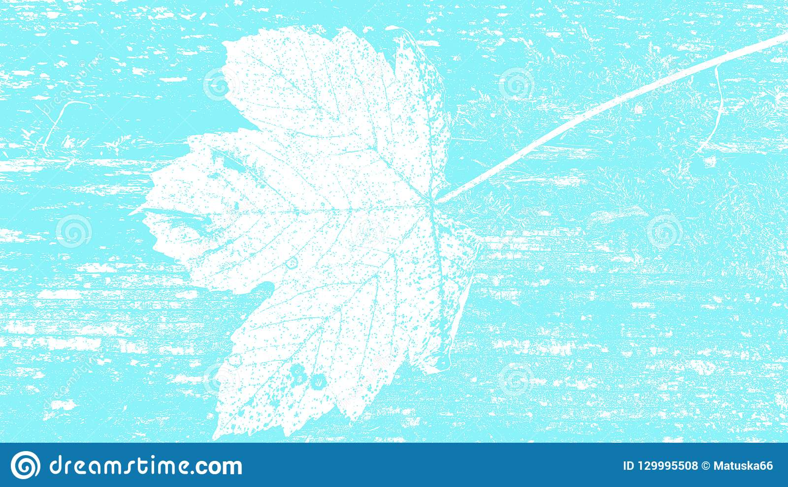 Light blue floral nature leaf surface natural silhouette grunge texture background design template for web and print