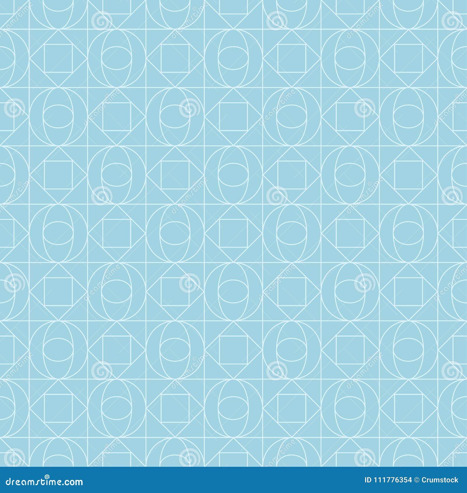 Light blue geometric print. Seamless pattern