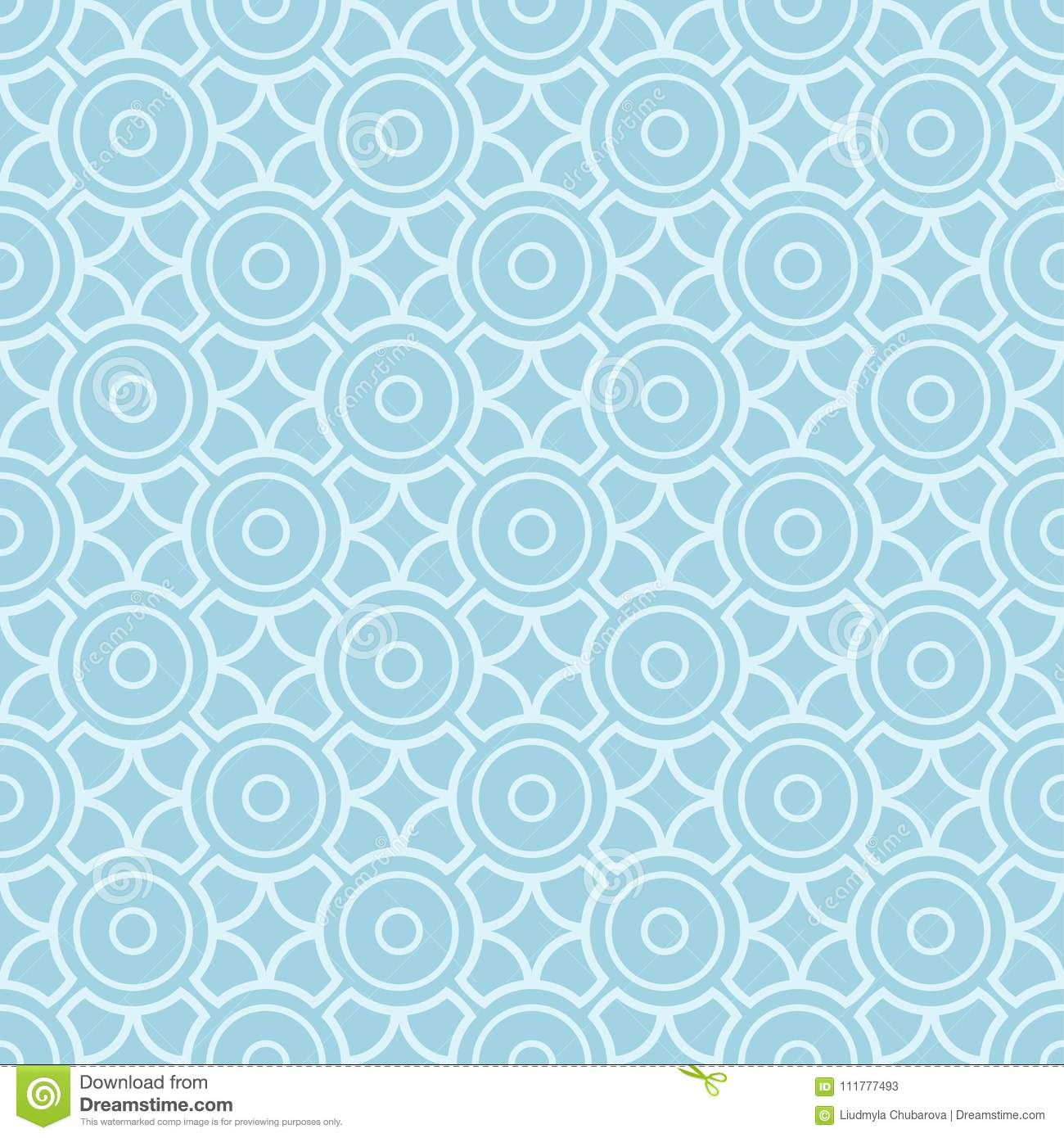 Light blue geometric seamless pattern