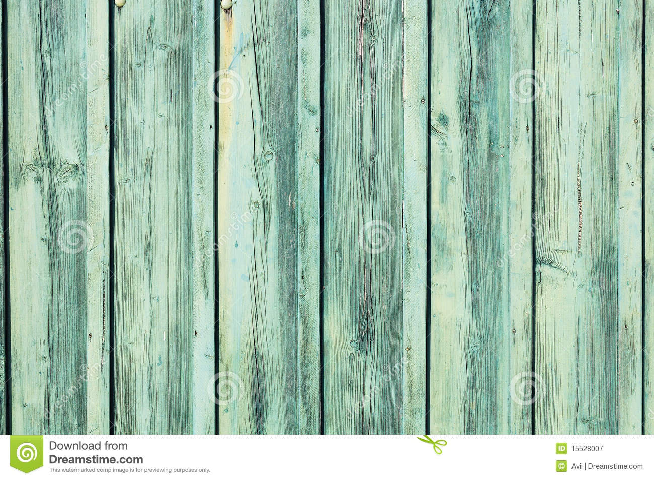Light Blue Green Weathered Wooden Fence Royalty Free Stock