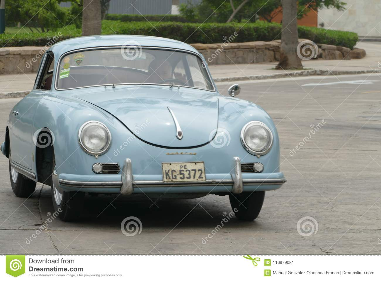 Light Blue Mint Condition Old Classic Porsche 356 In Lima Editorial Photo Image Of Lima Skill 116979081