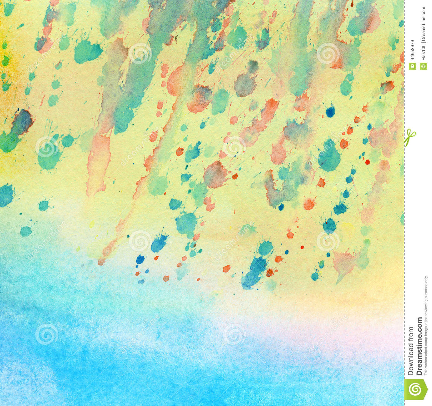 Light Blue Painted Watercolor Background Stock ...