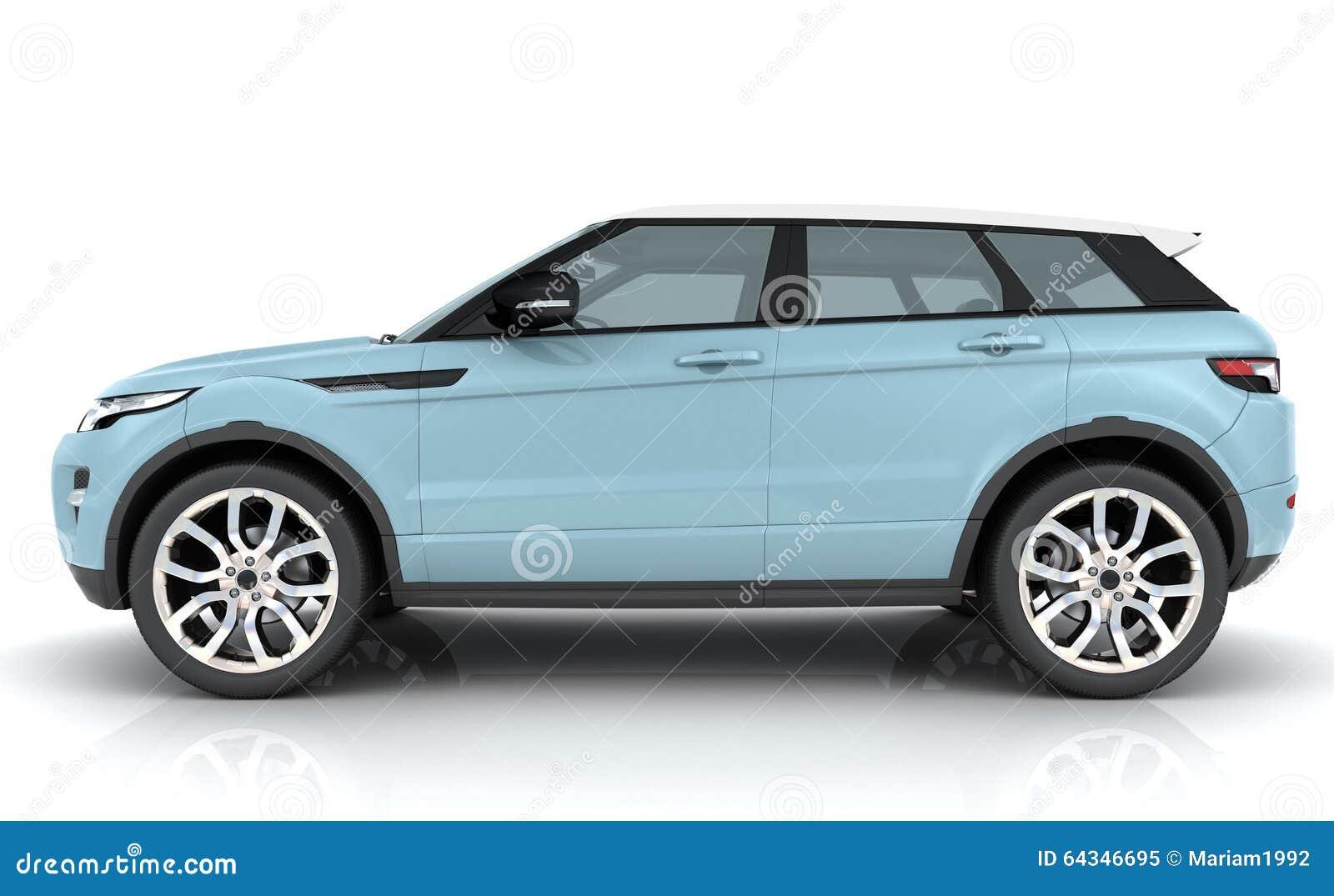 Light Blue Range Rover Stock Photo Image 64346695