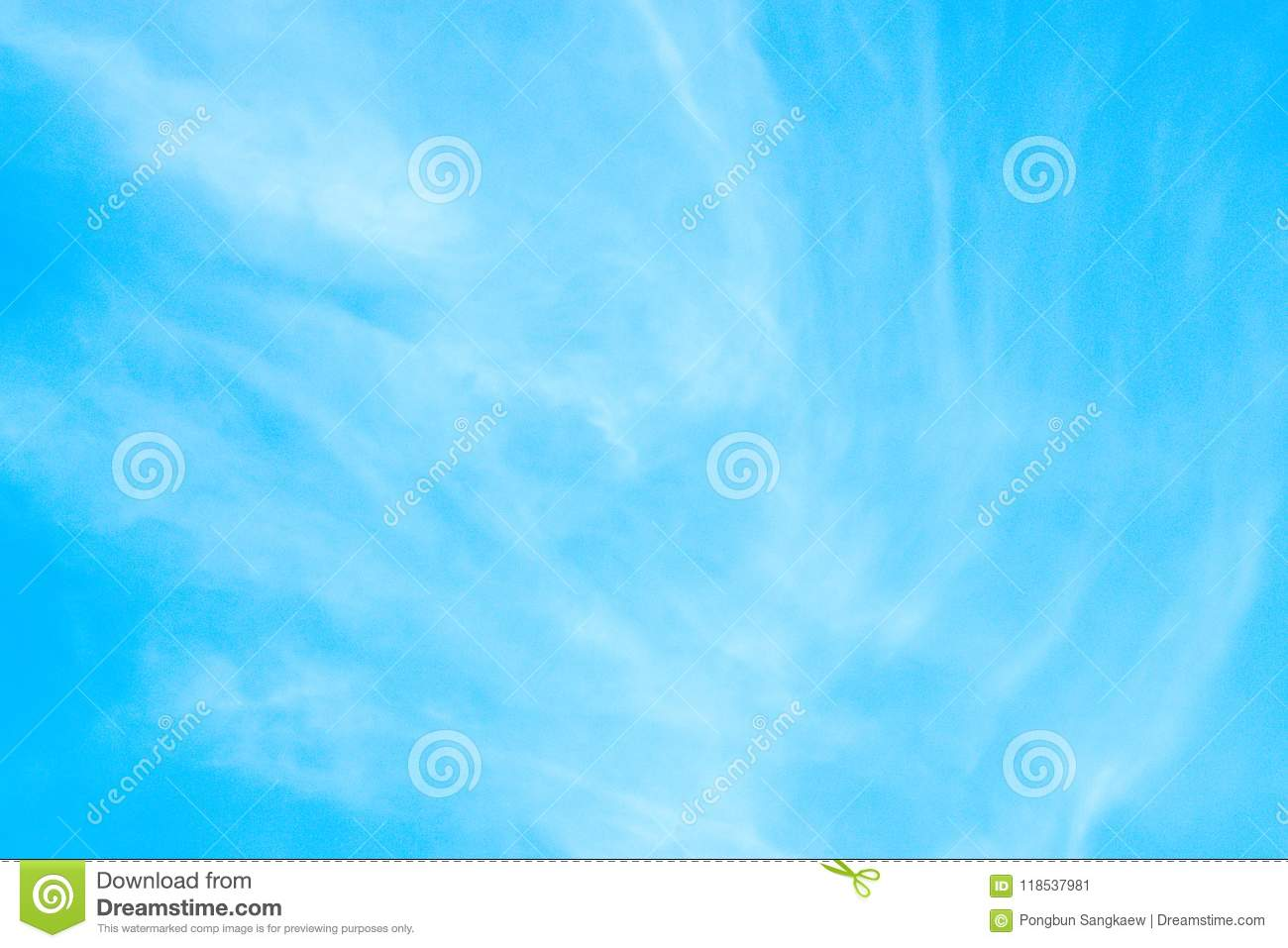 Light Blue Sky Peacful And Relax Nature Background Stock Image