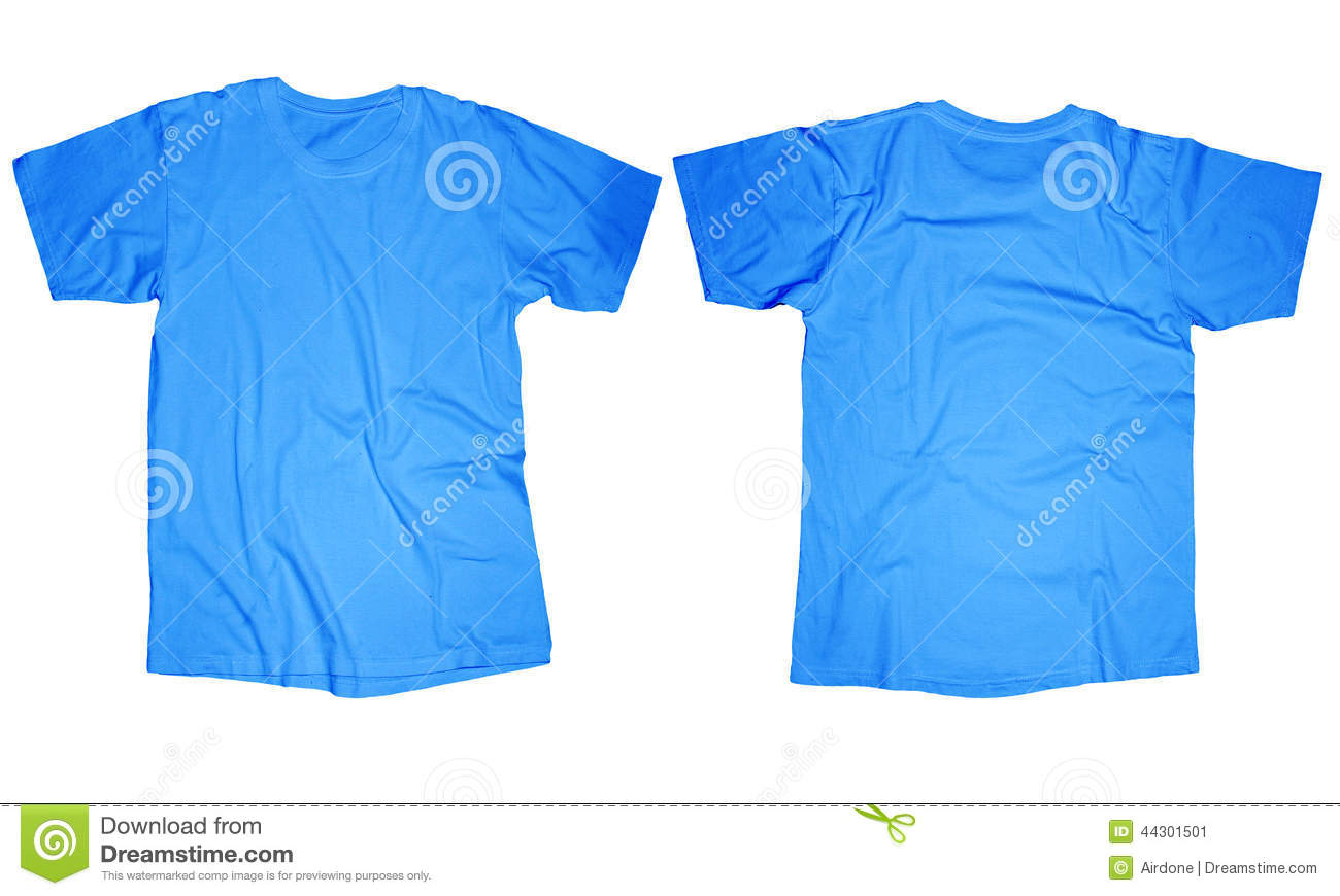 Light blue t shirt template stock photo image 44301501 for Blue t shirt template
