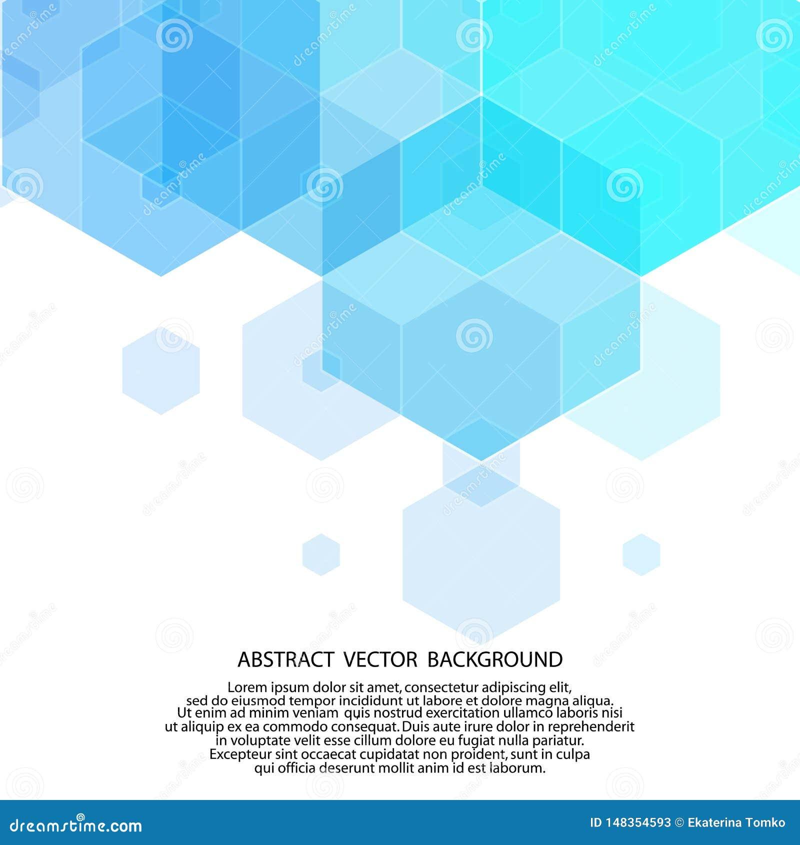 Light Blue Vector Layout With Hexagonal Shapes Glitter