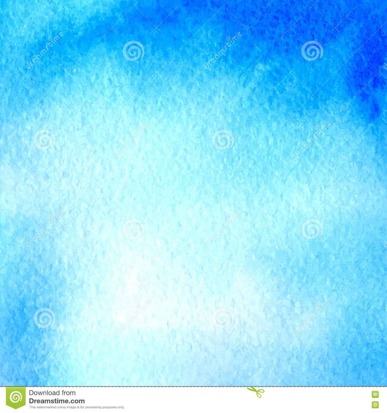 Light Blue Watercolor Hand Drawn Banner Stock Vector