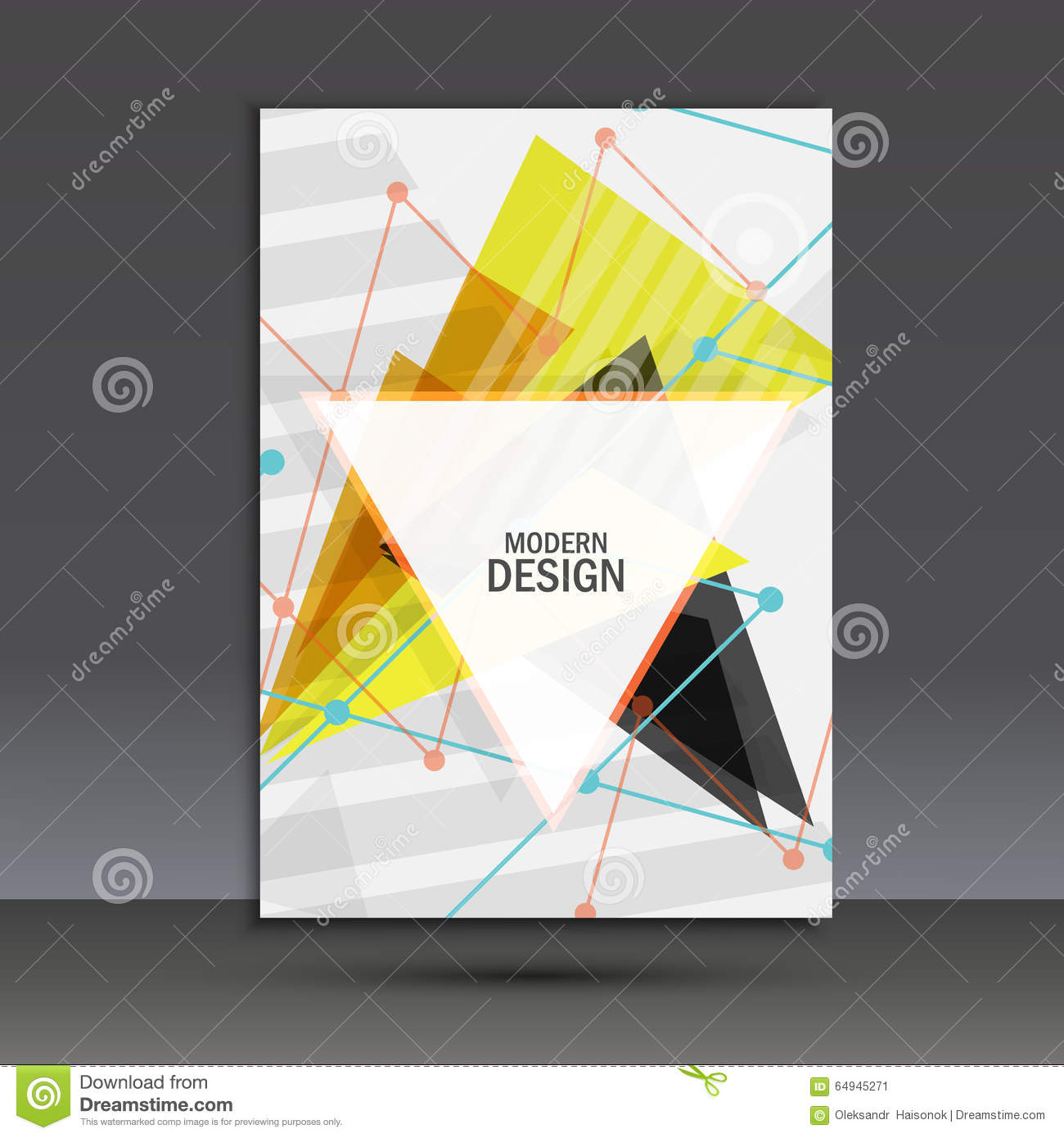 Composition Book Cover Background ~ Light book cover abstract vector composition of triangles for