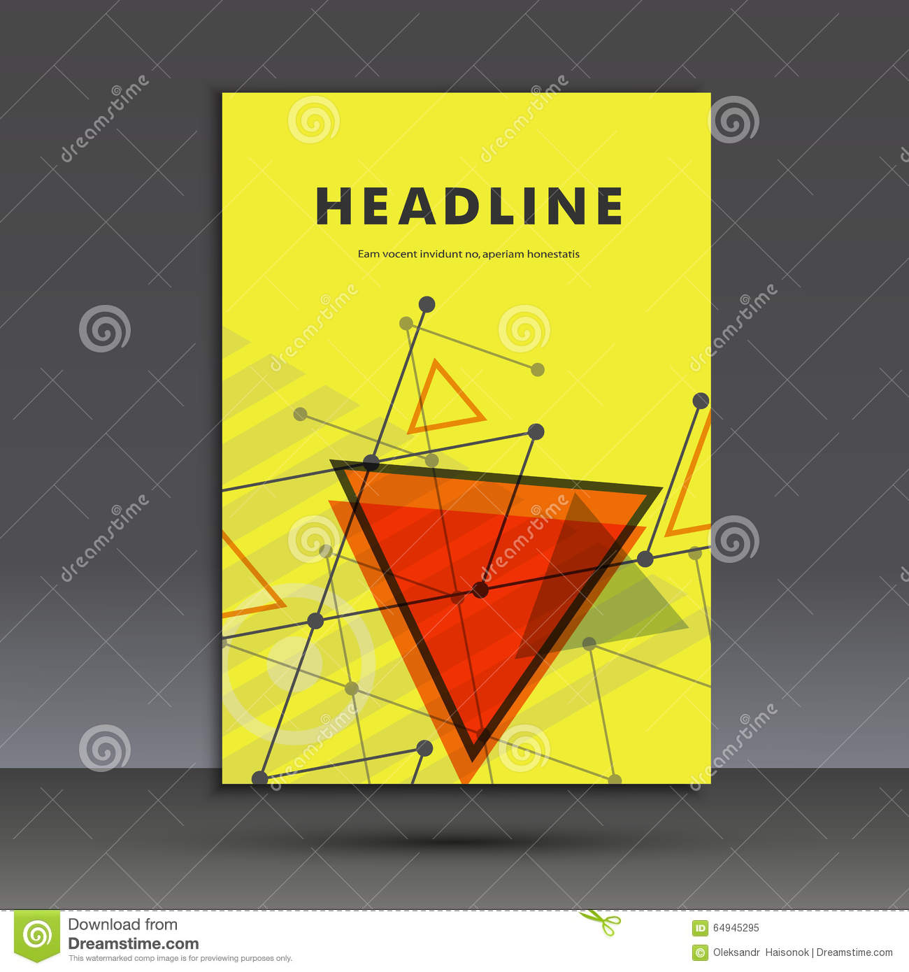 Book Cover Illustration Composition ~ Light book cover abstract vector composition of triangles