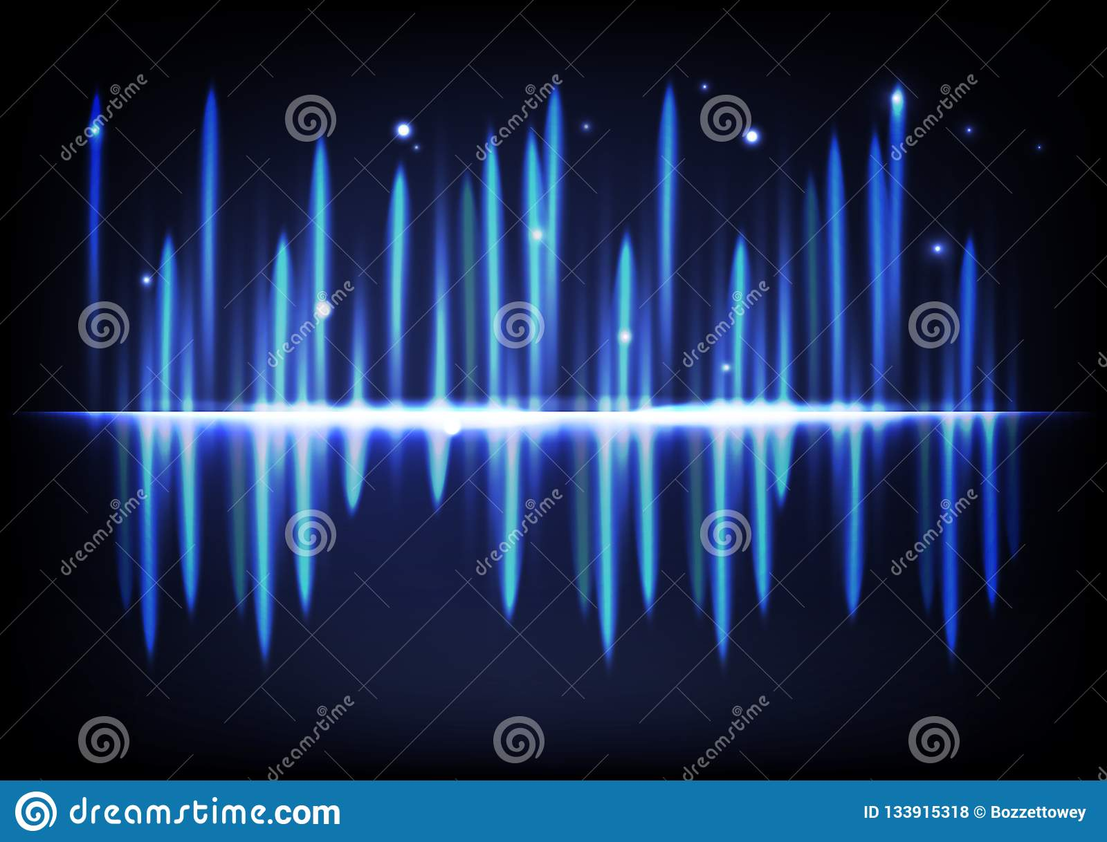 Abstract Technology Background With Light Effect: Light Bright Glowing Effect Abstract Background Music
