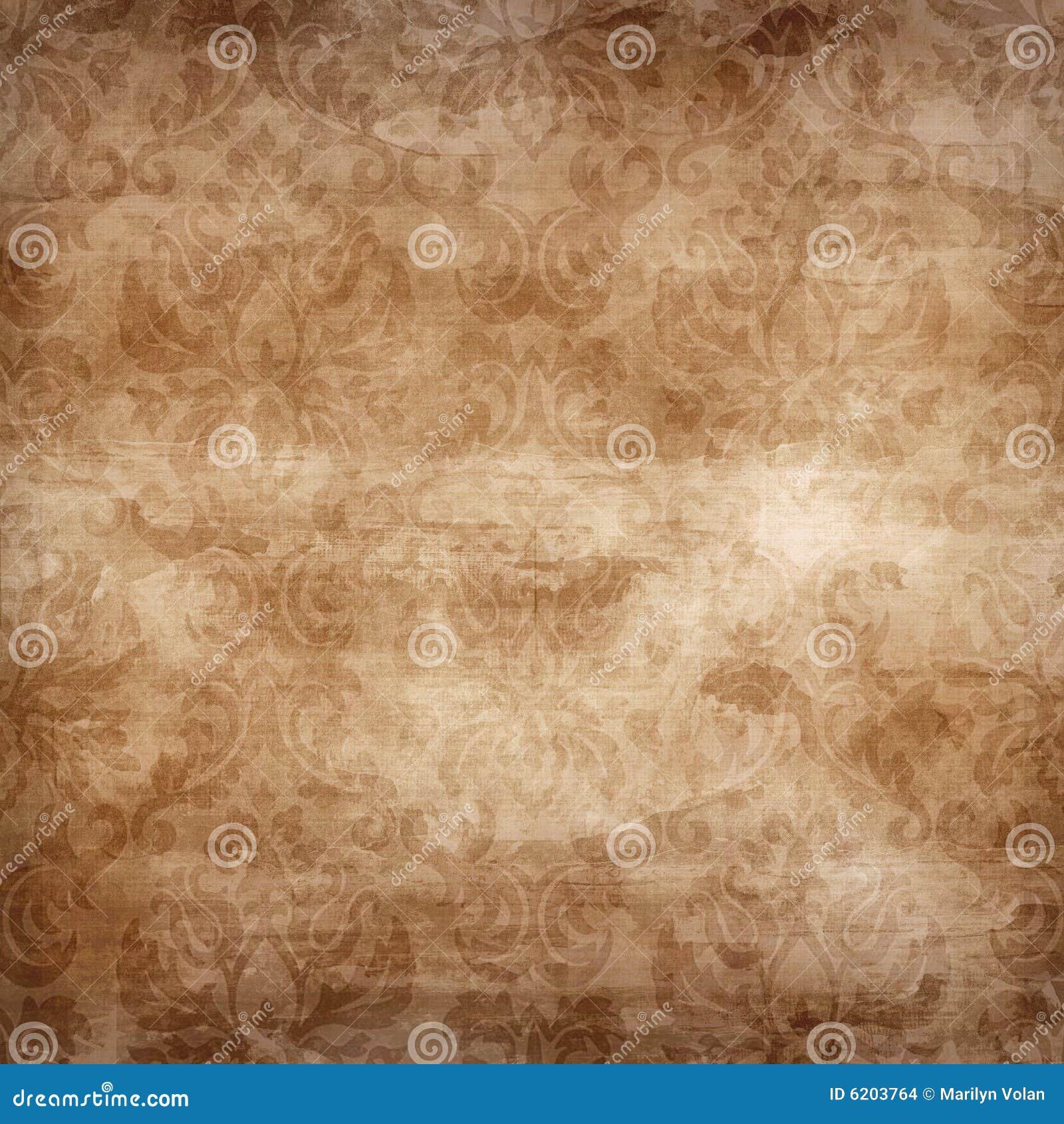 Scrapbook paper as wallpaper - Light Brown Damask Seamless Stock Images Image 6203764