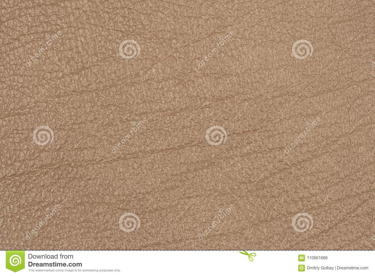Close Up Photo Of Brown Surface: Light Brown Leather Texture Surface. Stock Photo
