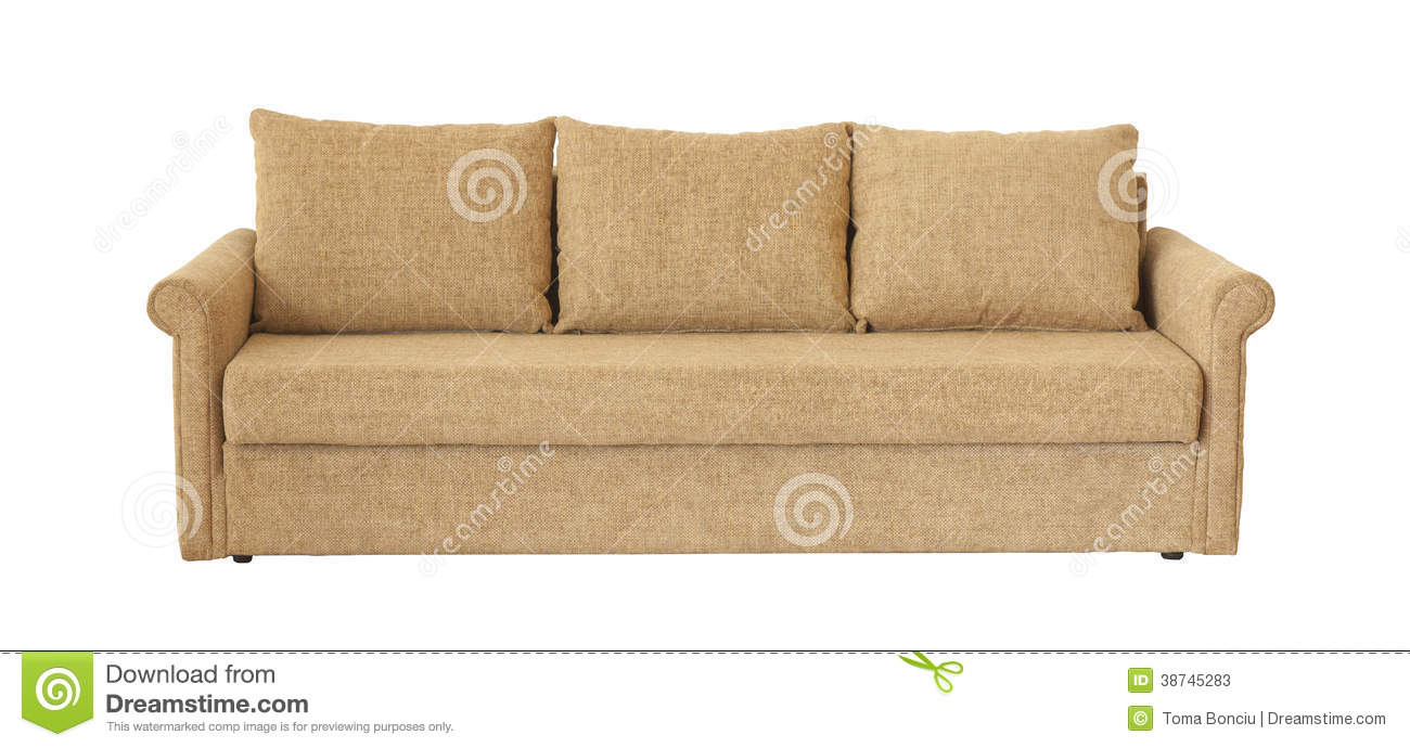 Light Brown Sofa Isolated On White Stock Photos Image