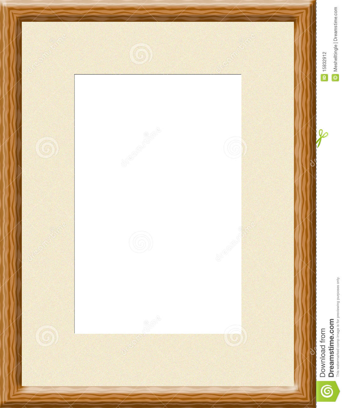 Light Brown Wooden Frame Stock Illustration Illustration Of Grain