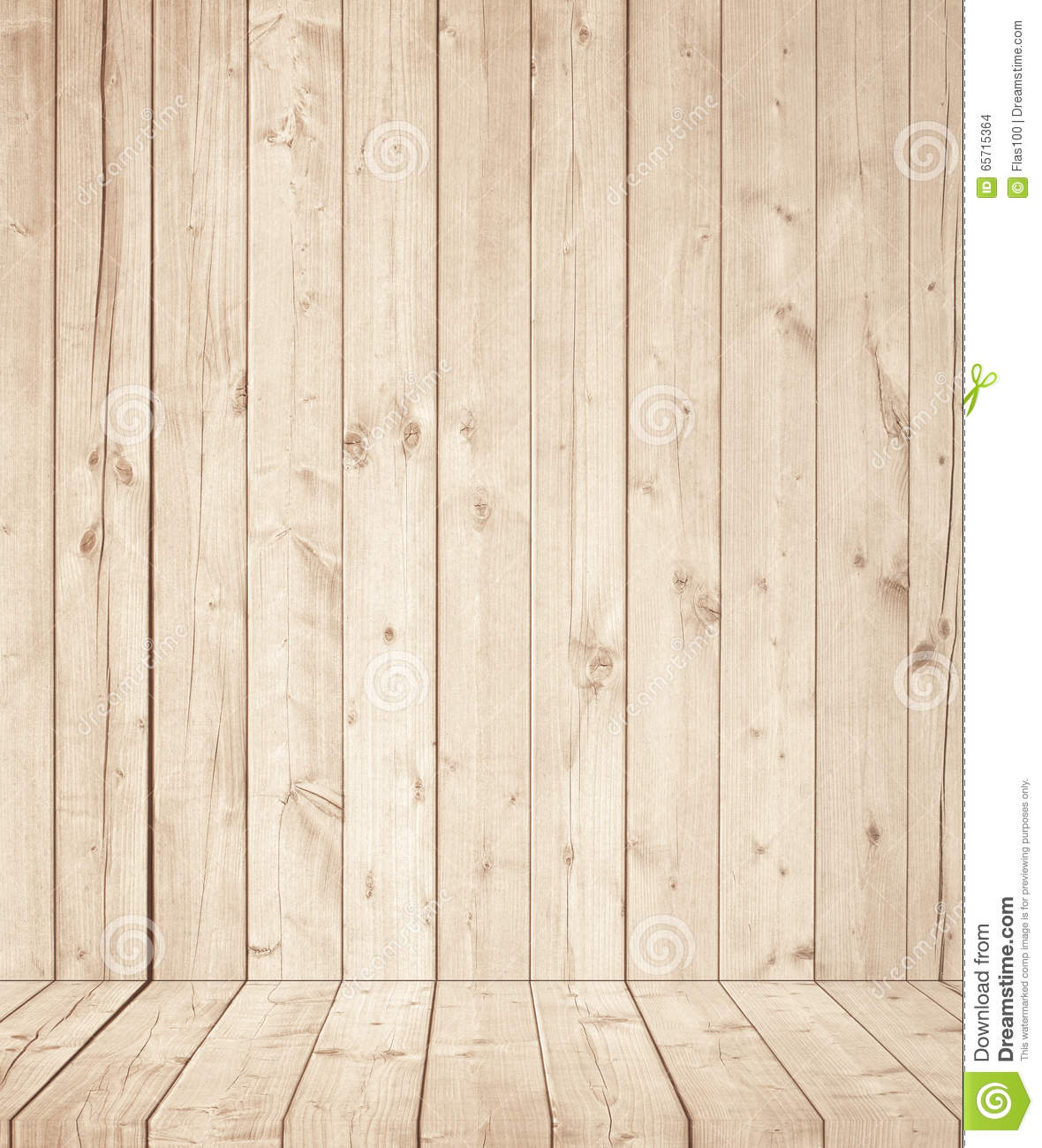Light Brown Wooden Wall Texture With Old Pine Fir Floor