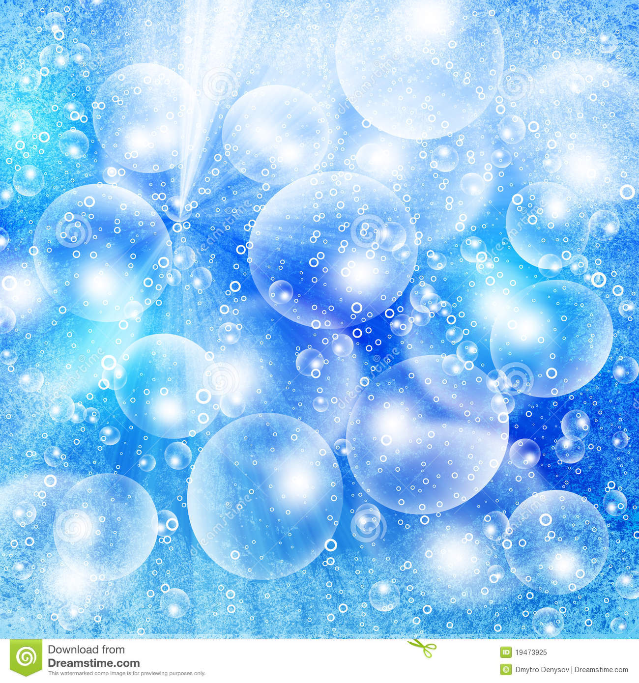Light Bubbles On A Blue Grunge Royalty Free Stock Photo ...