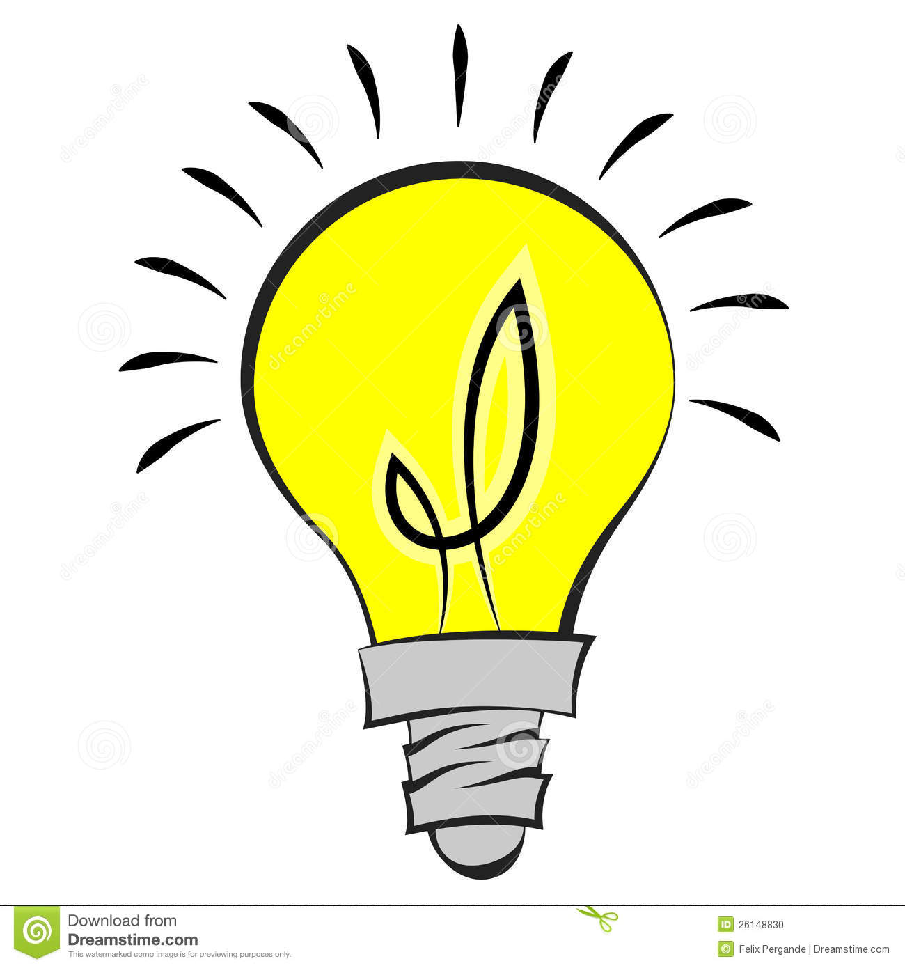 Light Bulb stock vector. Illustration of icon, idea, graphic - 26148830 for Bright Light Bulb Clipart  585hul
