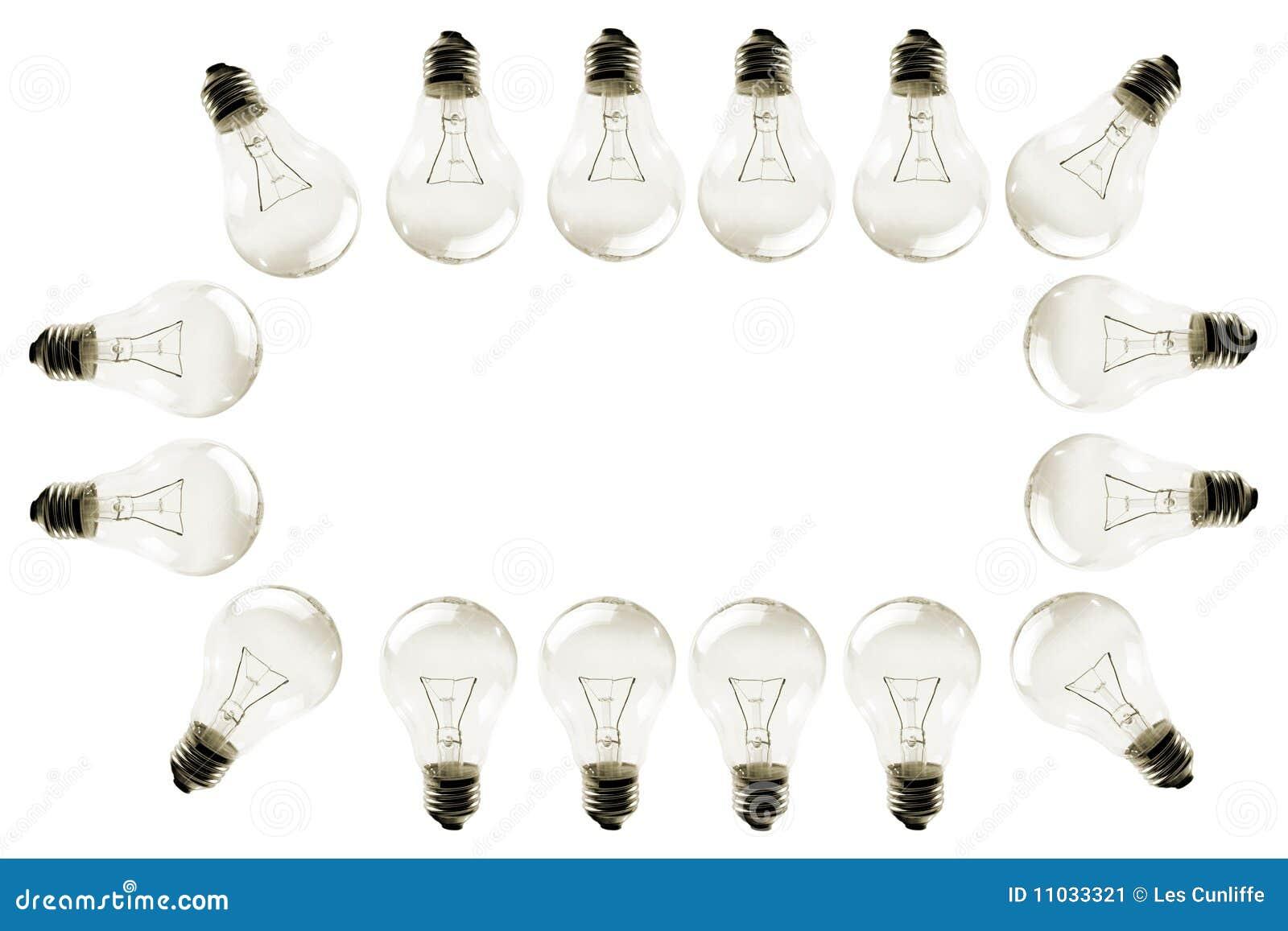 light bulb border stock image image of white illuminating 11033321
