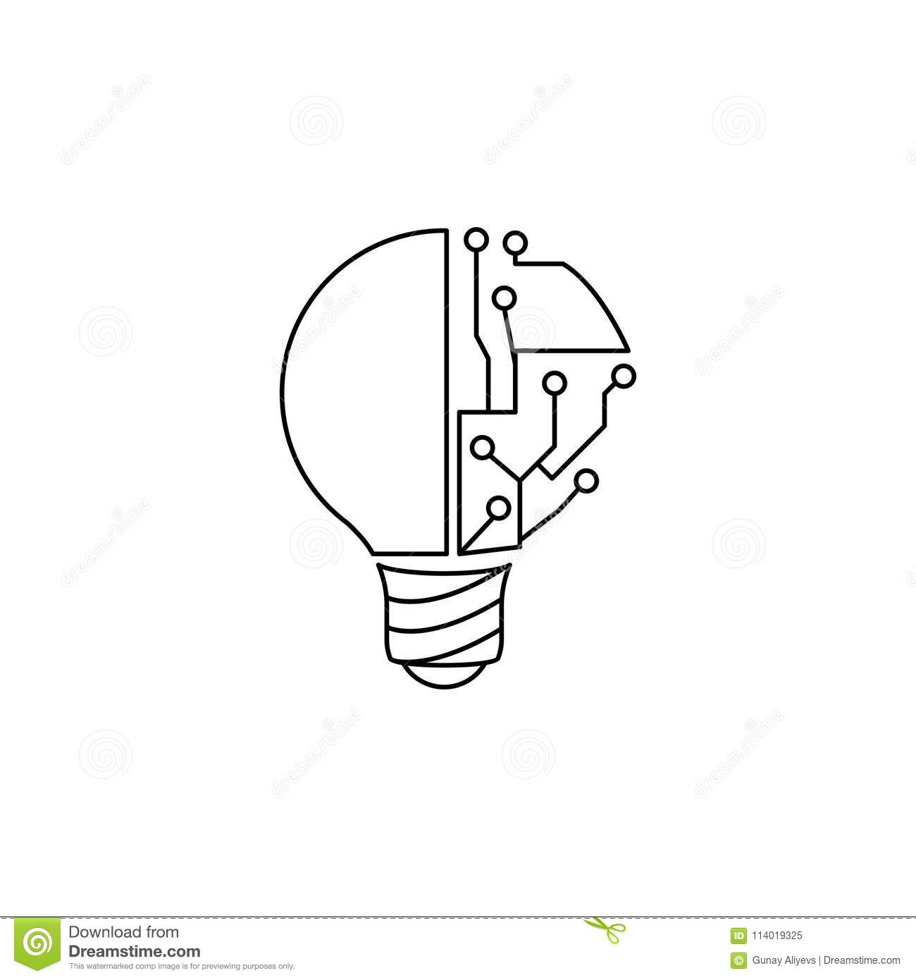 Download Light Bulb And Circuit Icon. Element Of Idea And Solutions For  Mobile Concept And