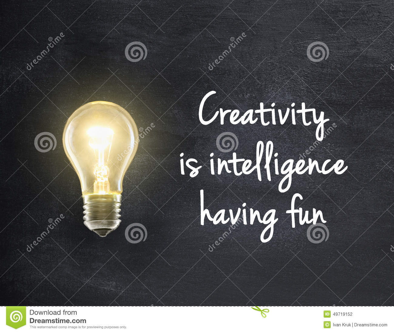 Light Bulb With Creativity Quote Stock Photo Image Of Fixture