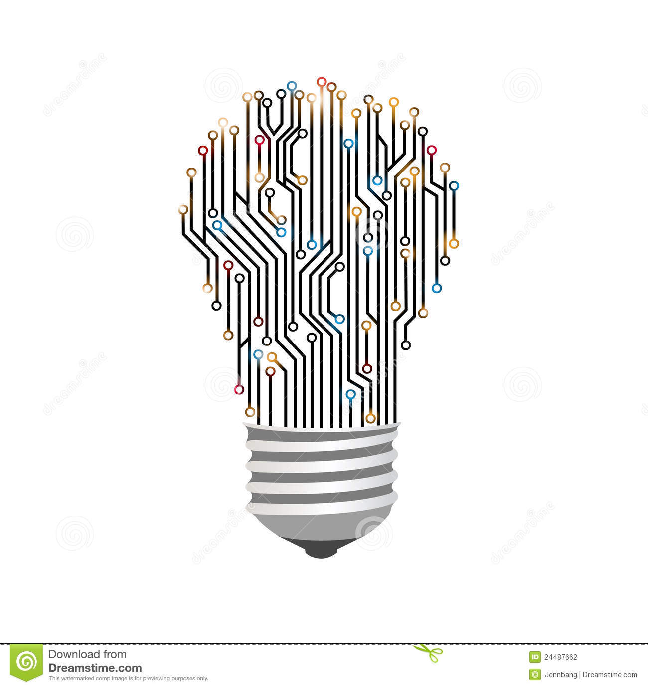 light bulb electric lines stock photography
