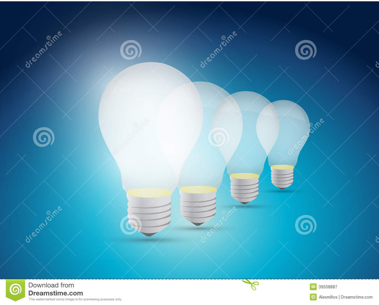 Light bulb great idea illustration design
