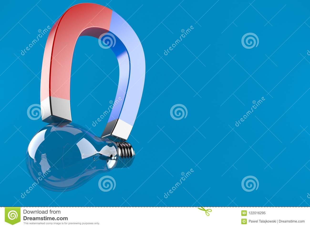 Light Bulb With Horseshoe Magnet Stock Illustration All Electrical Appliances Including Bulbs Stereos And Download Of Electric Electricity 122016295